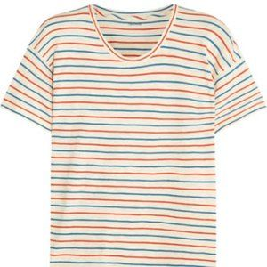 Madewell Red and Blue Striped Shirt